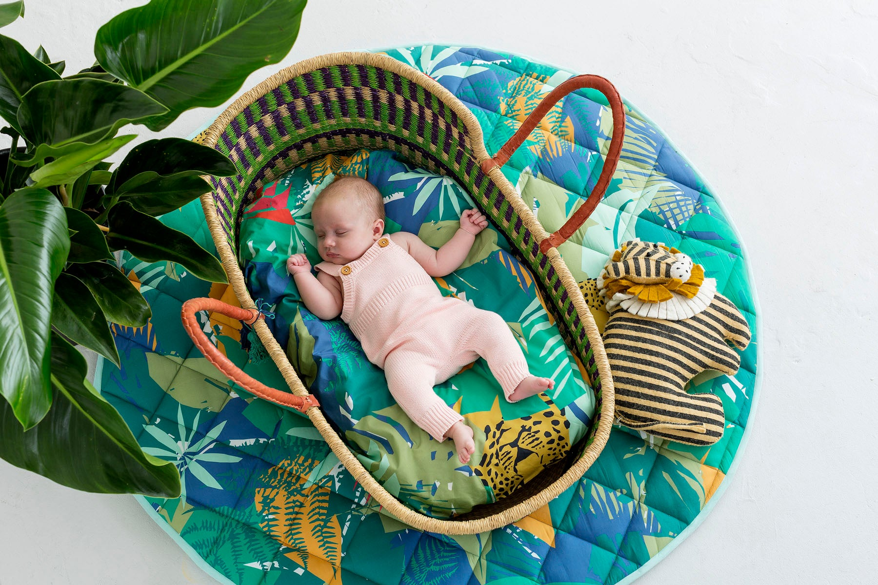 Jungle Bassinet Fitted Sheet