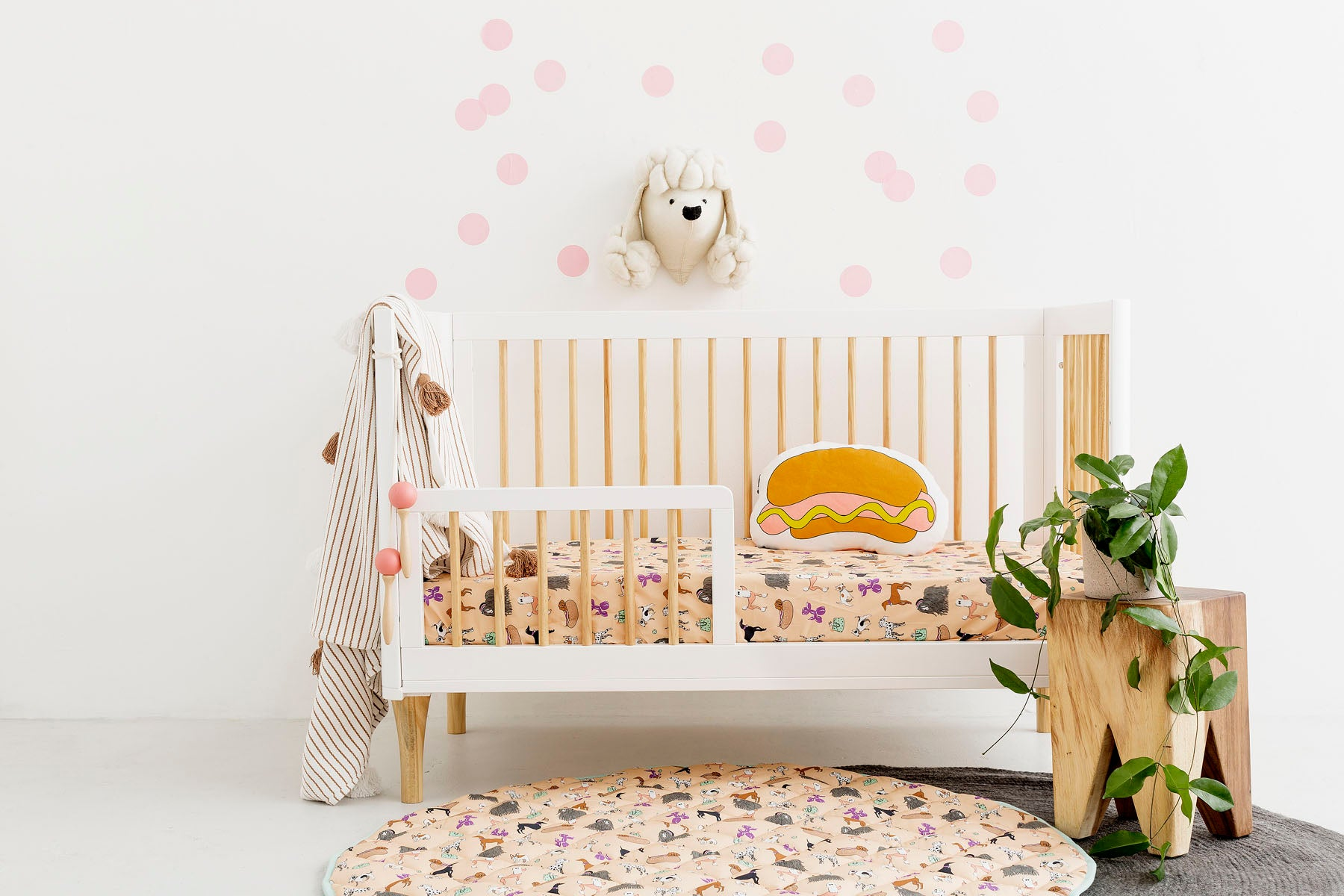 Puppy Love Cot Fitted Sheet