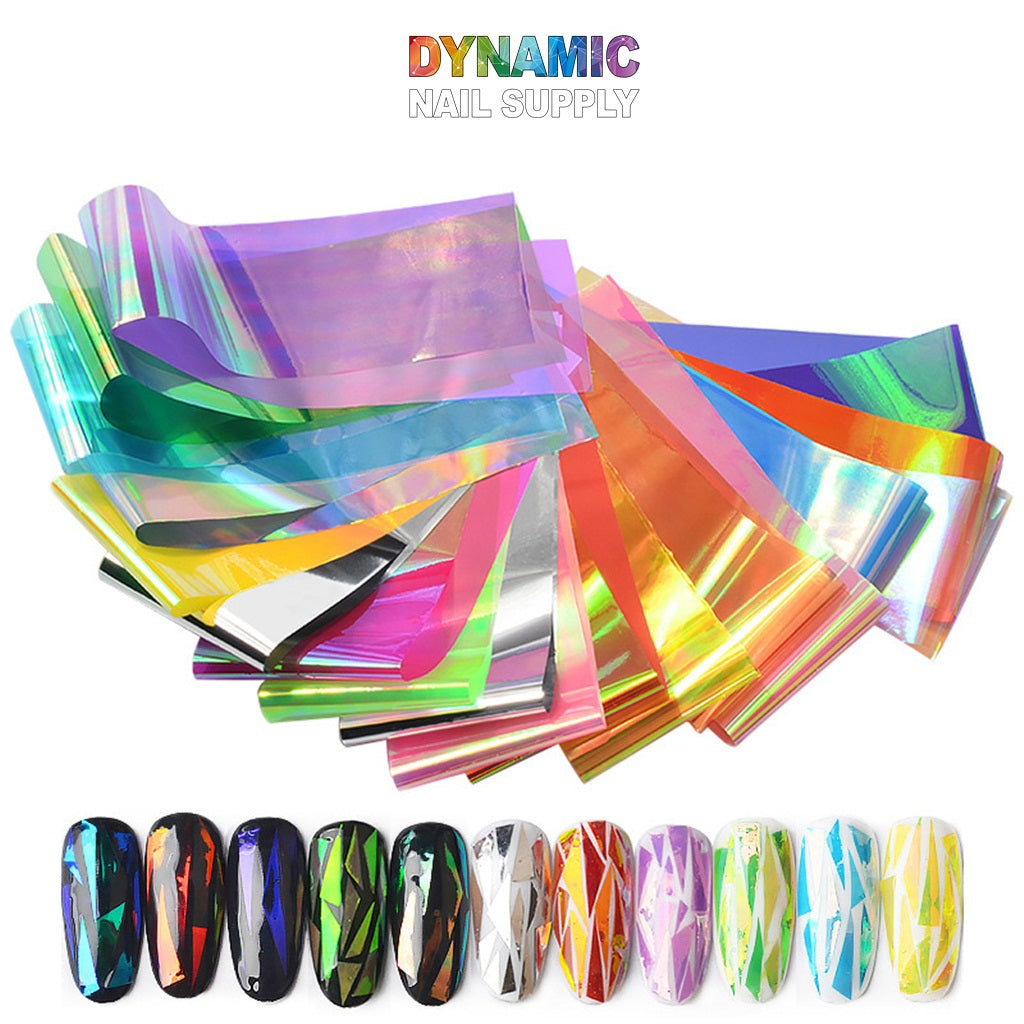 Mixed Colors Colorful Rainbow Thin Iridescent Gradient Foil Paper