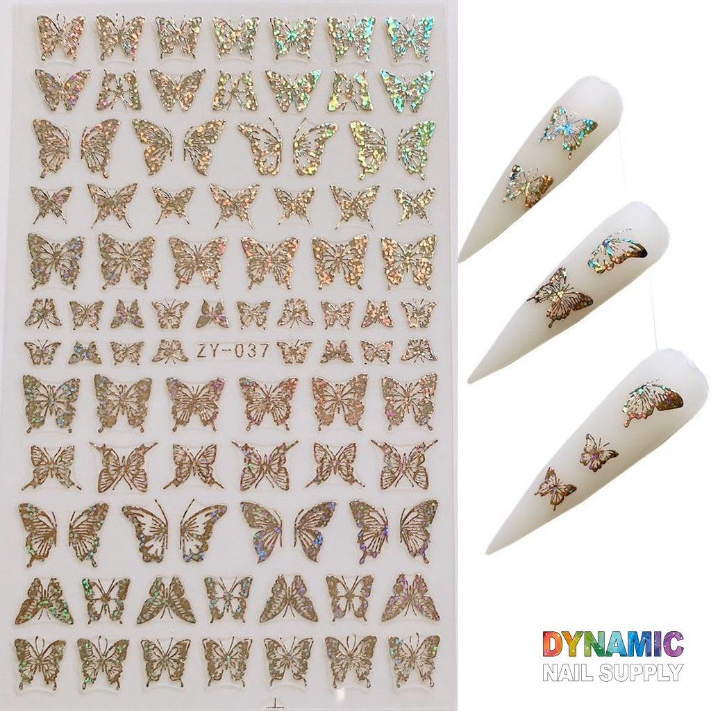 10 Sheets Butterfly Nail Stickers, DIY Butterfly Nail Stickers Nail Art Supplies Accessories, Nail Art Stickers for Nails Design Manicure Tips Decorations