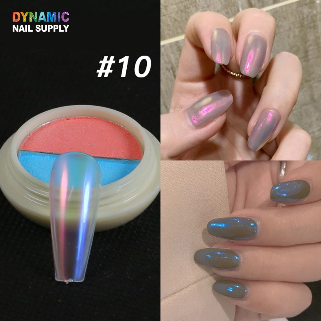 Rainbow Holographic Fine Nail Powder Holo Unicorn Mirror Laser Effect Multi Chrome Manicure Pigment Glitter Dust For Salon Home Nail Art DIY Decor