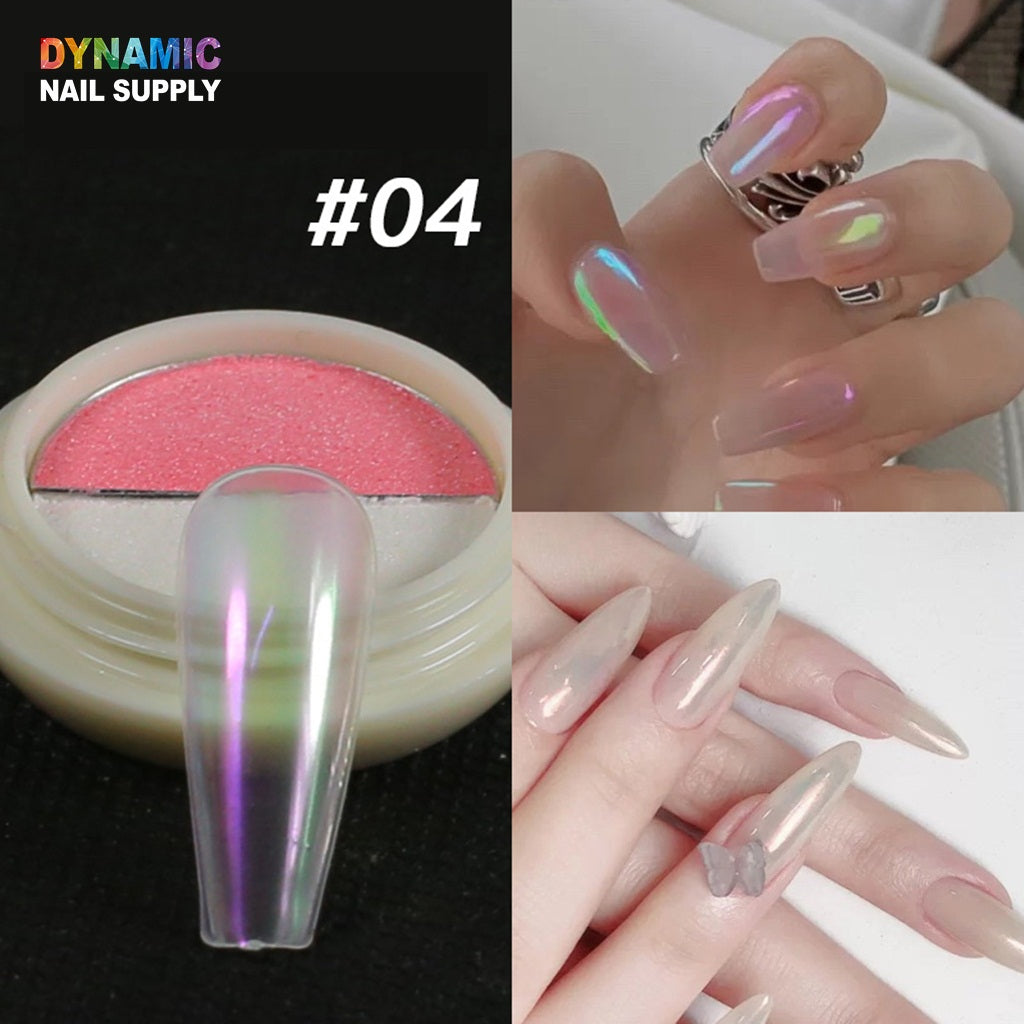 Holographic Holographic Powder Salon Nails Pigment Unicorn Mirror Chrome Gel Nail Polish Powder Laser Dust For Nails