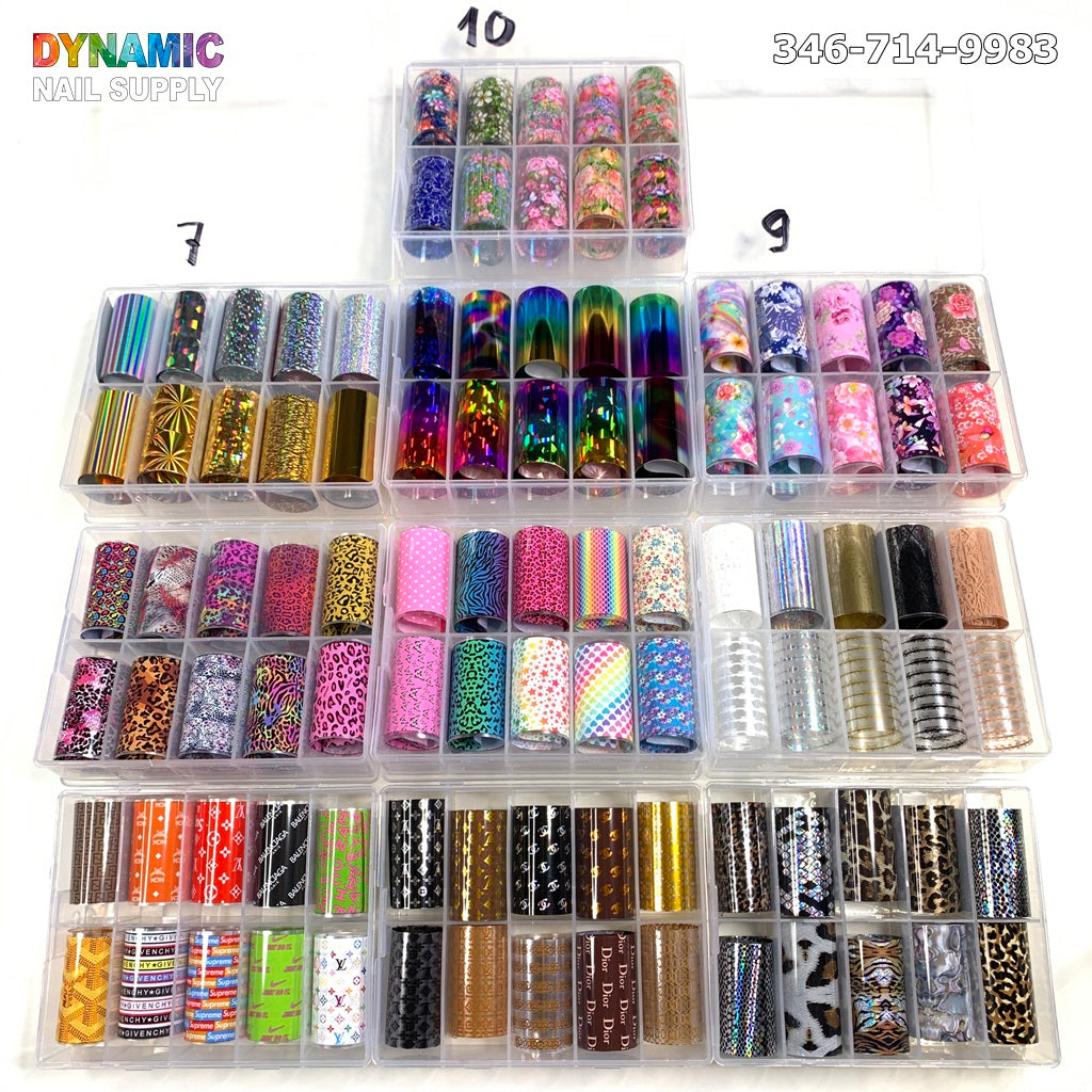 Nail Foil Adhesive Decals Starry Sky Manicure Transfer Tips Nail Art DIY Decoration Kit