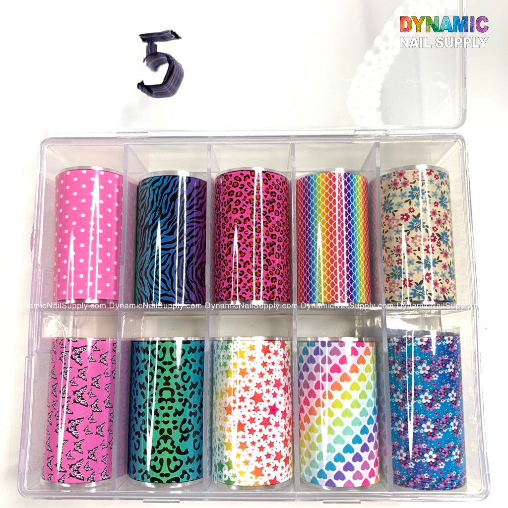 Color Nail Art Foil Stickers Tip Adhesive Nail Transfer Decals Manicure Decoration