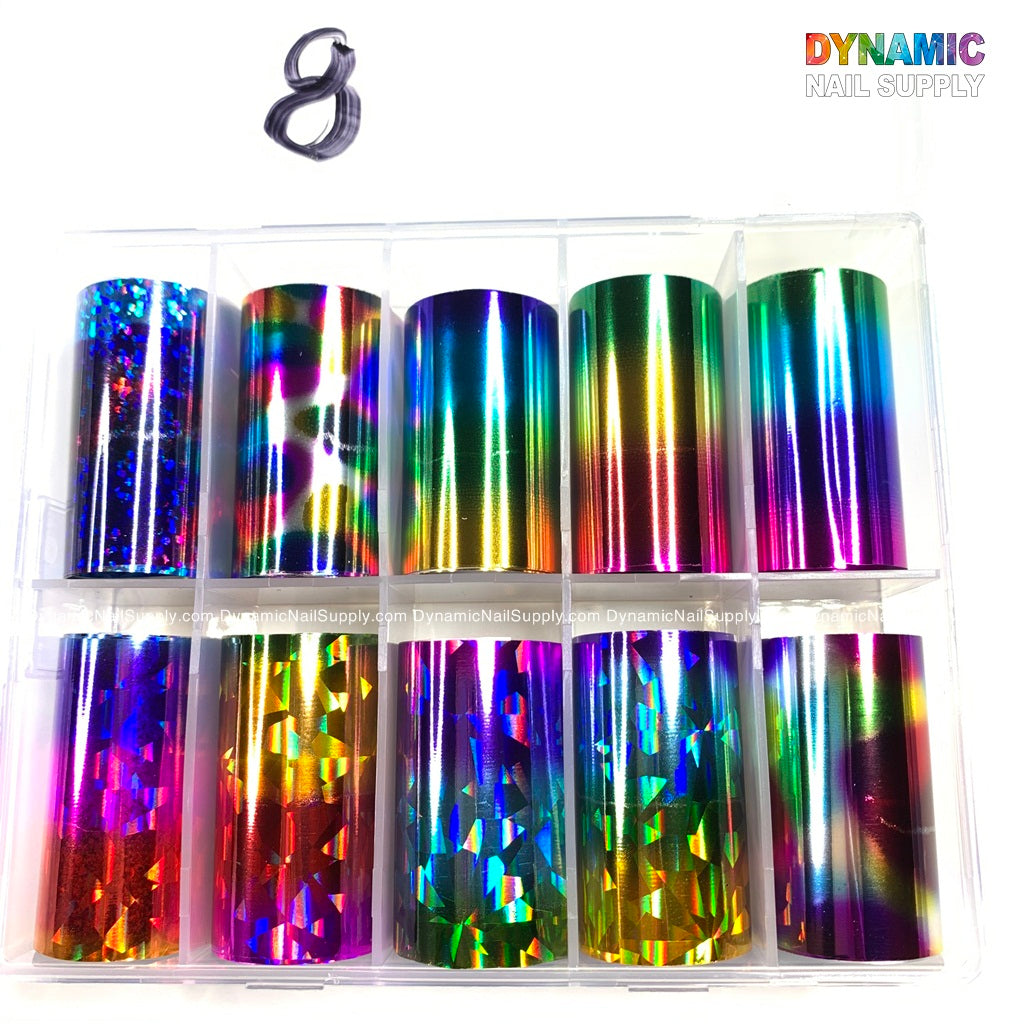 Foil Nail Art Designs Manicure Tips Wraps Transfer Stickers For Women Nails DIY Decoration