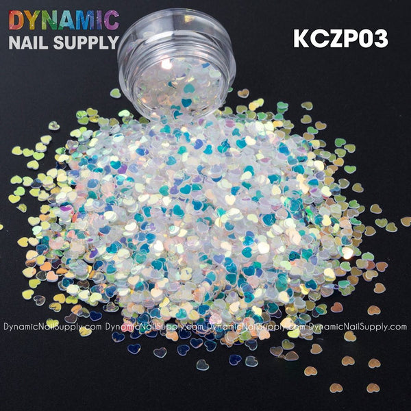 KCK 1160 Heart Shape 3MM Size Sequins nails art glitter - Dynamic Nail Supply