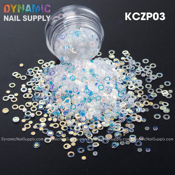 KCK 1270 Ring Circle Dot 3MM Sequins art glitter - Dynamic Nail Supply