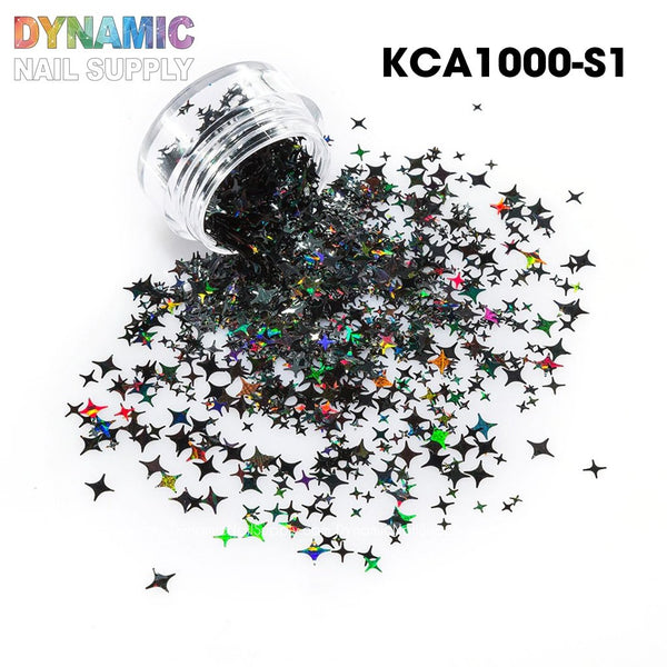KCK 1320 Four Angle Stars Shape nails art glitter - Dynamic Nail Supply