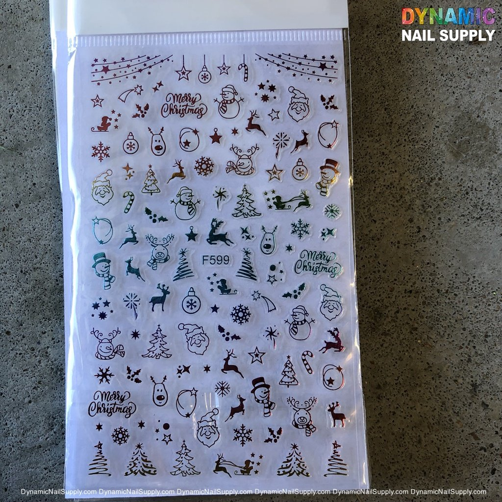 NAIL ART STICKERS - CHRISTMAS NAILS STICKER -  F599