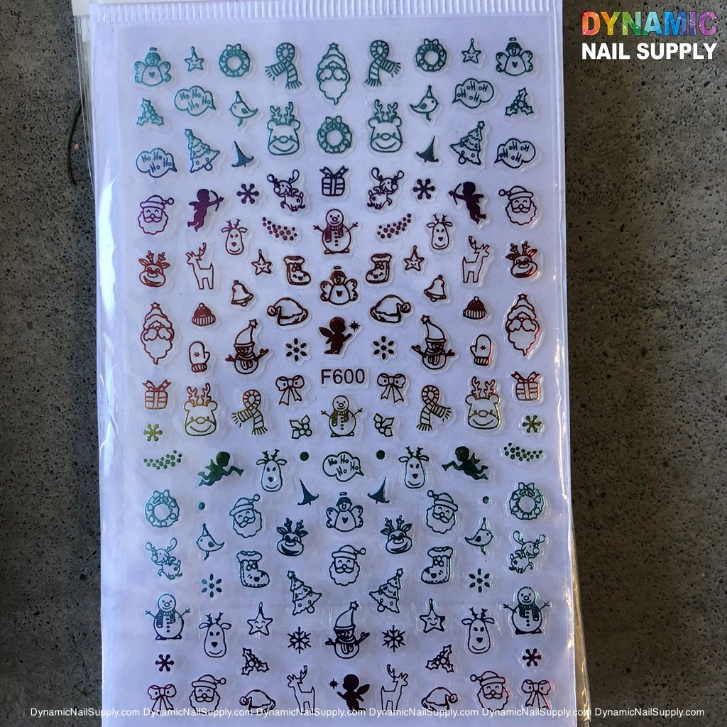 NAIL ART STICKERS - CHRISTMAS NAILS STICKER -  F600
