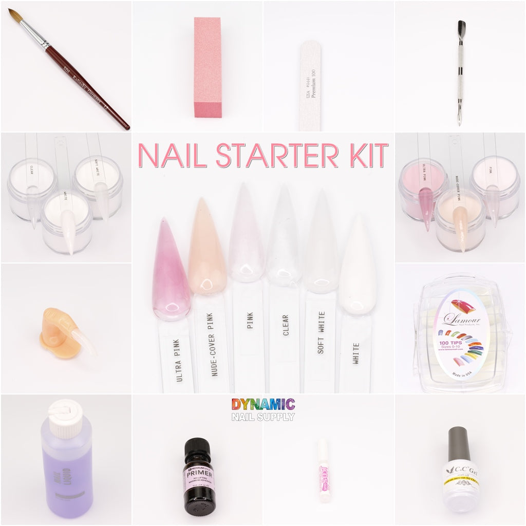 Acrylic nail starter kit for professional or home use - Dynamic Nail Supply