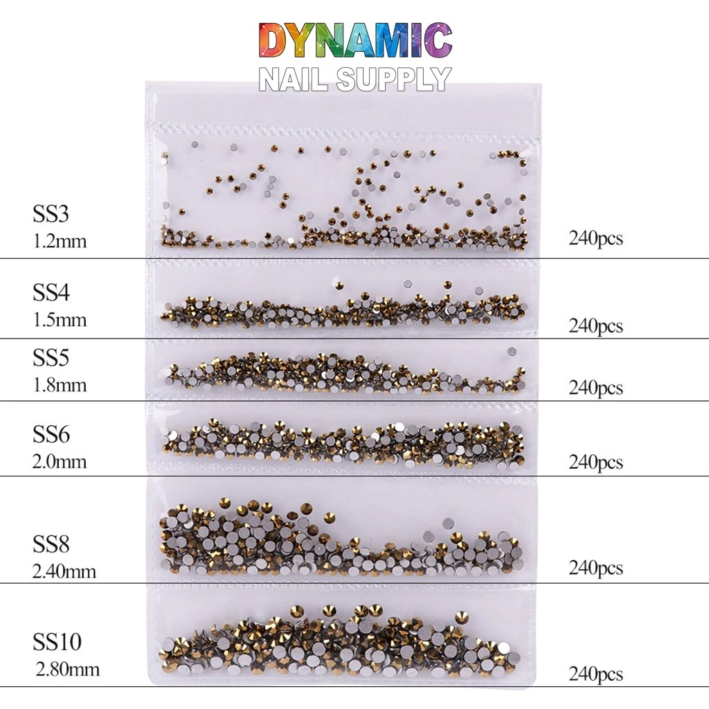 QH0250 Nail Art Rhinestones 3D Gems Decorations - Dynamic Nail Supply