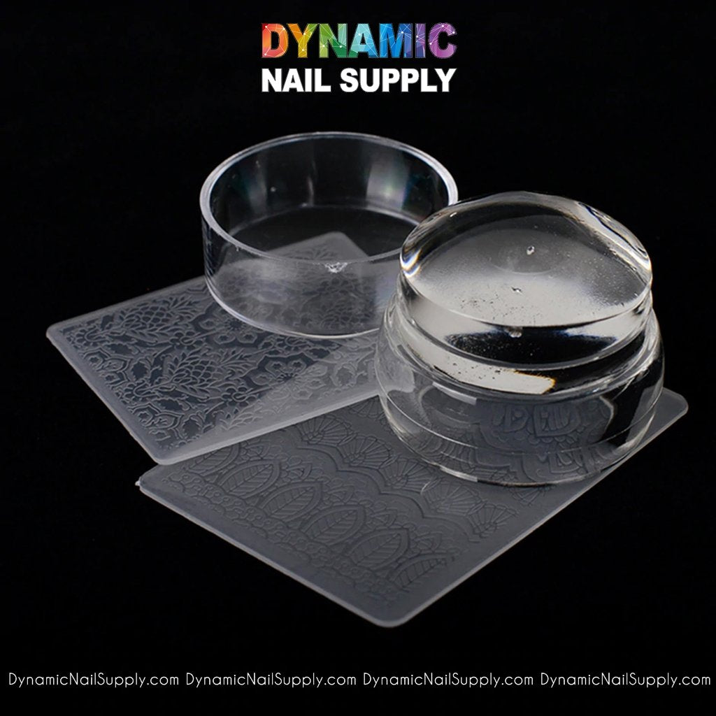 QH6210 Silicone Transparent Soft Stamper for Nail Art Stamp Plate - Dynamic Nail Supply