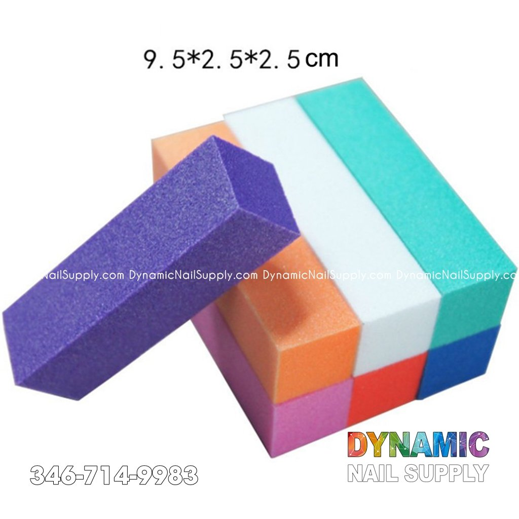 High-elastic Nail Art Sponge Buffer File Block Manicure Pedicure Buffin - Dynamic Nail Supply