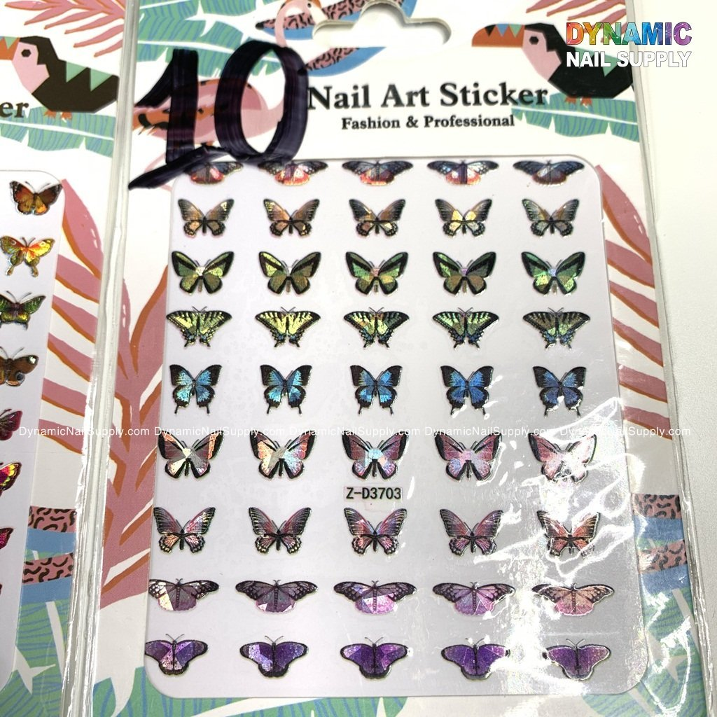 Butterfly stickers for nails art design - 10