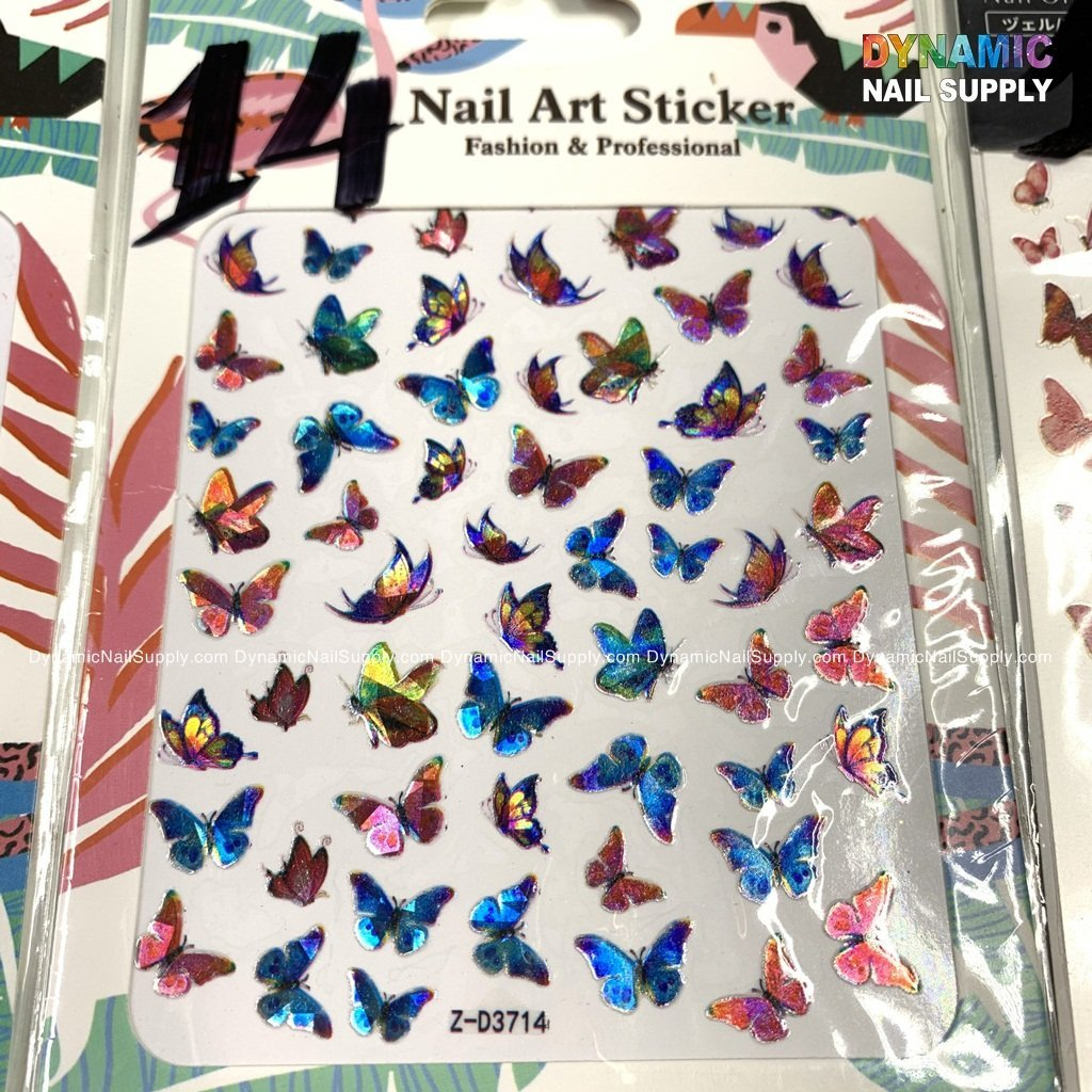 Butterfly stickers for nails art design - 14