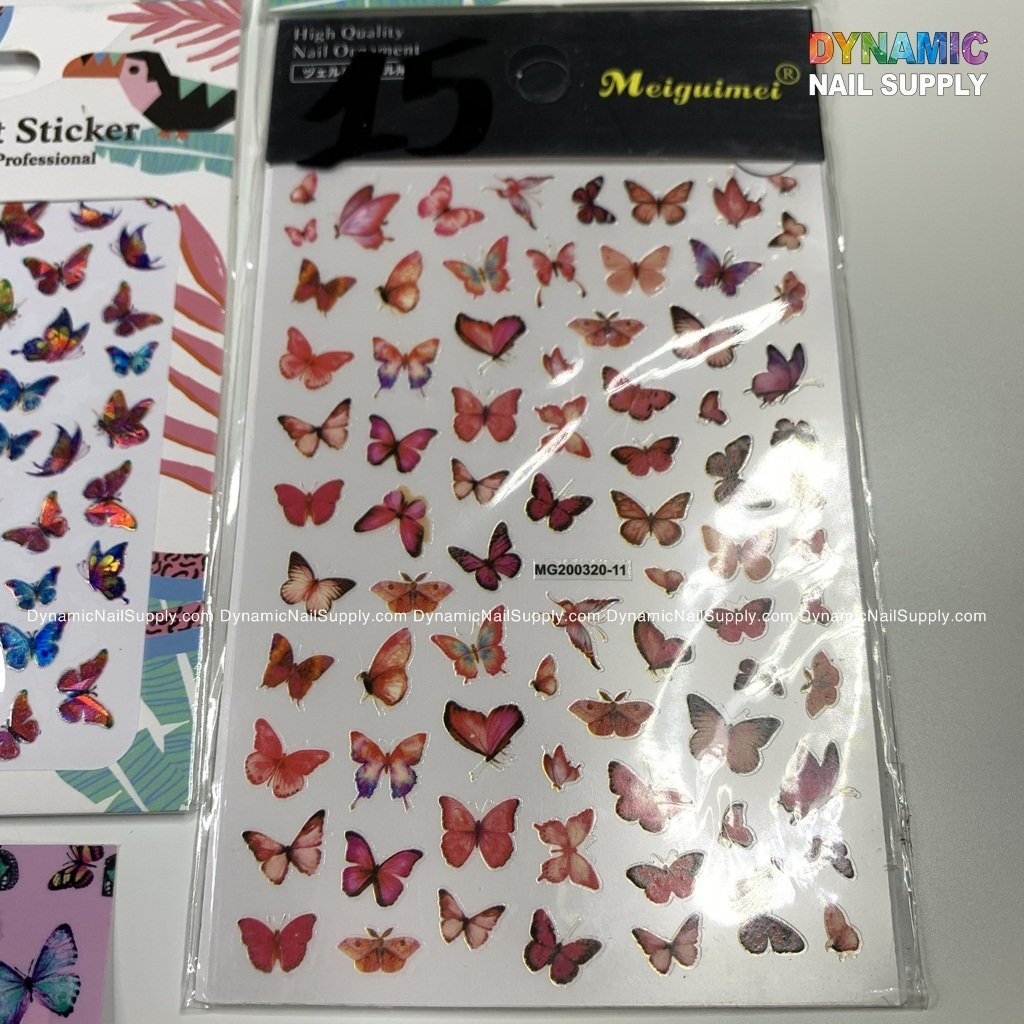 Butterfly stickers for nails art design - 15