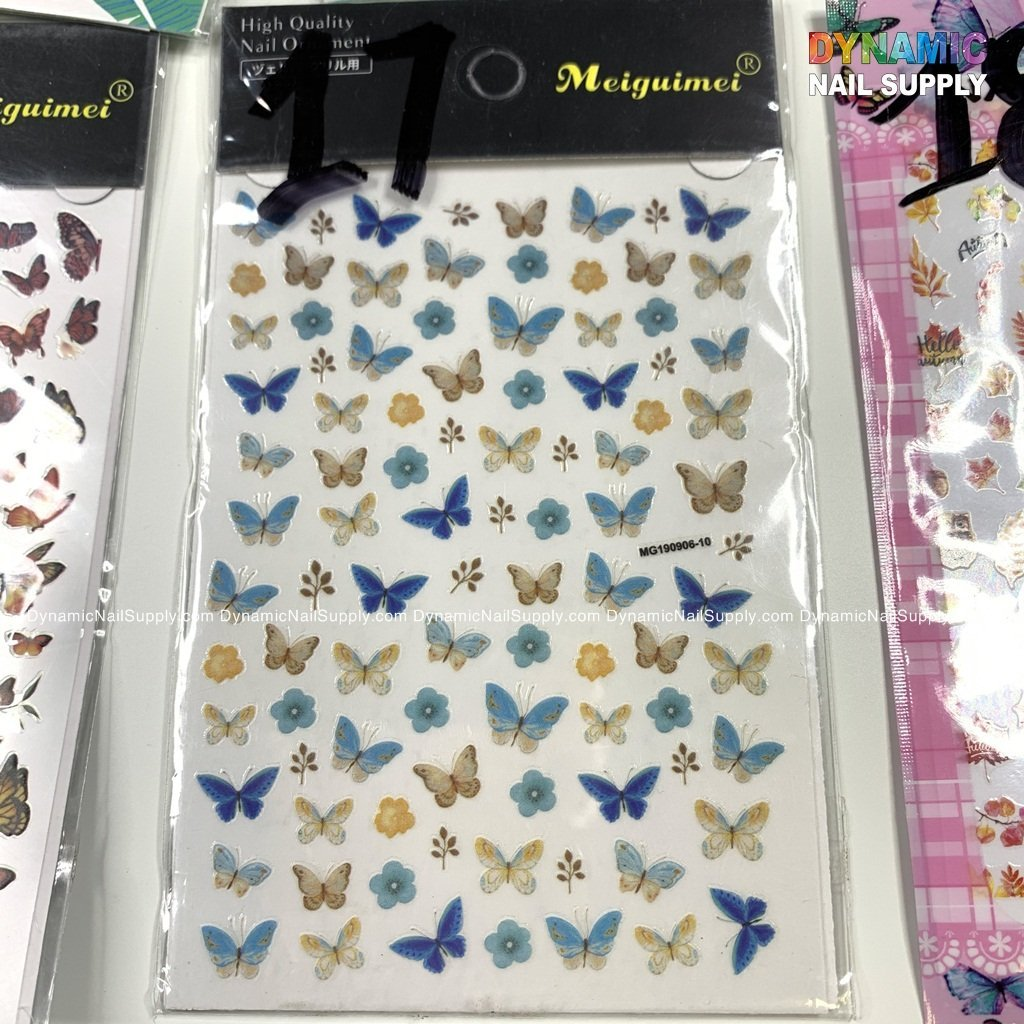 Butterfly stickers for nails art design - 17