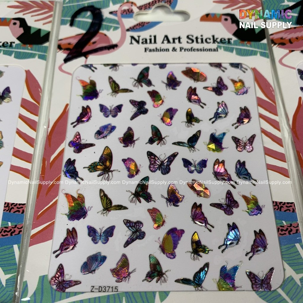 Nail Art Stickers Water Transfer DIY Nail Decals Butterfly, Flowers, Feathers etc