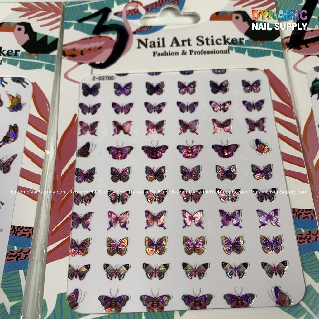 Butterfly Nail Art Stickers Water Transfer Nail Decals Flowers, Nail Art Supplies, Colorful Butterflies Nail Design Nail Art Decoration