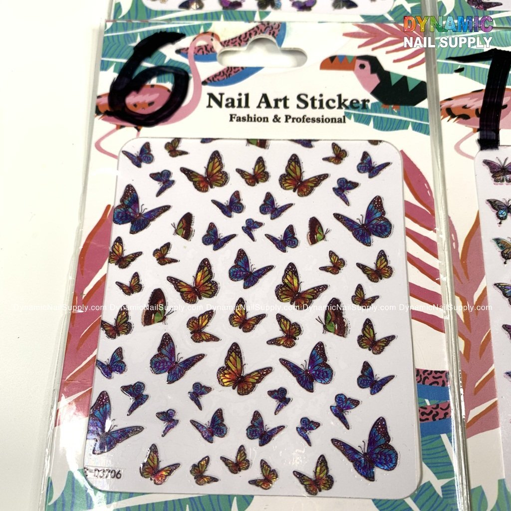 Butterfly stickers for nails art design - 6