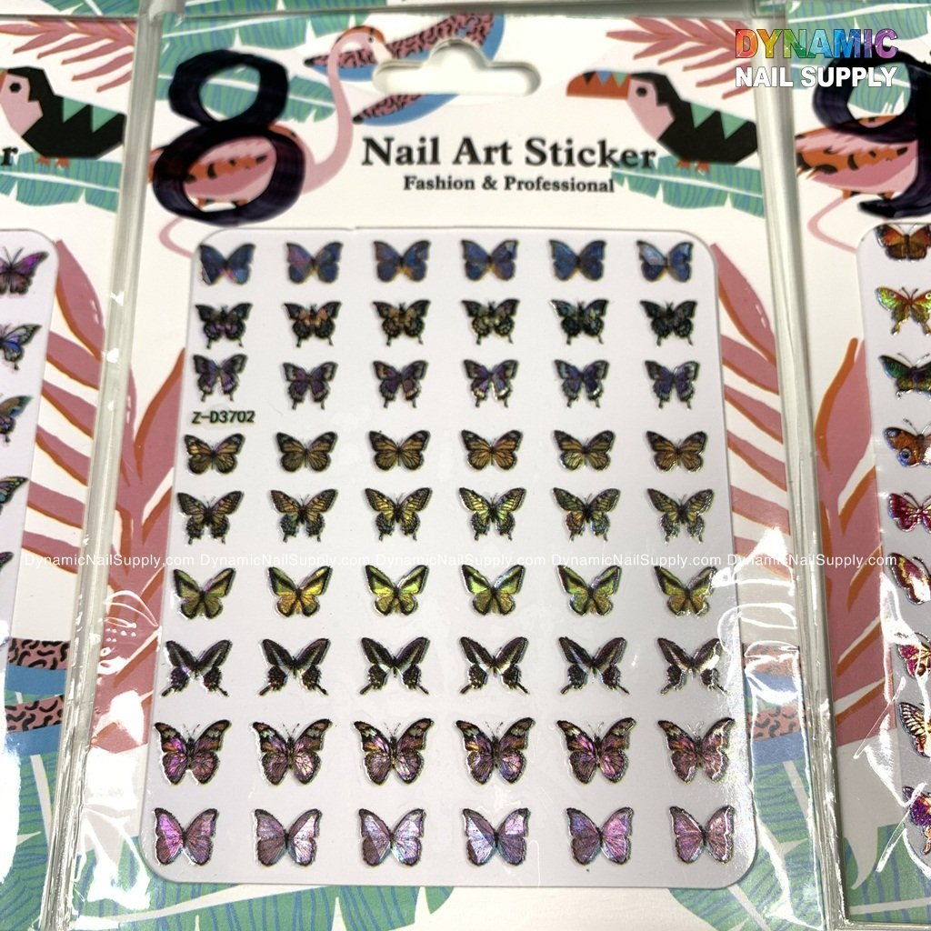 Butterfly stickers for nails art design - 8