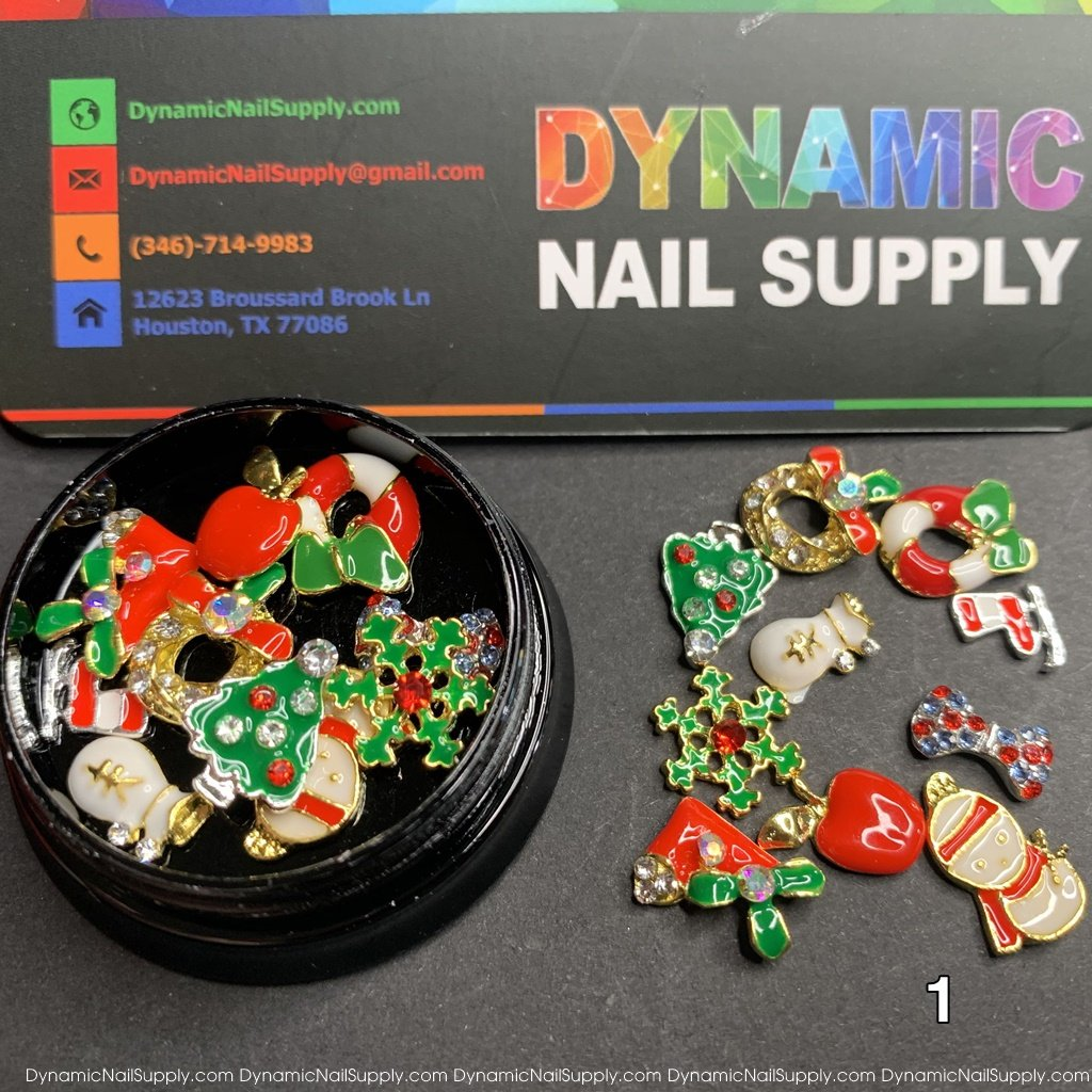 Christmas Metal Charms for Nail Art Design