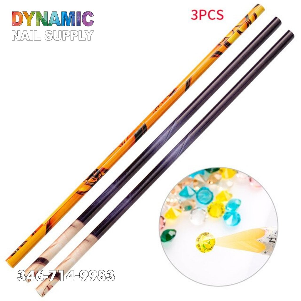 Crayon Wax Dotting Pen Pencil Self-adhesive Gems Drilling Picking Picker Tips Tools - Dynamic Nail Supply