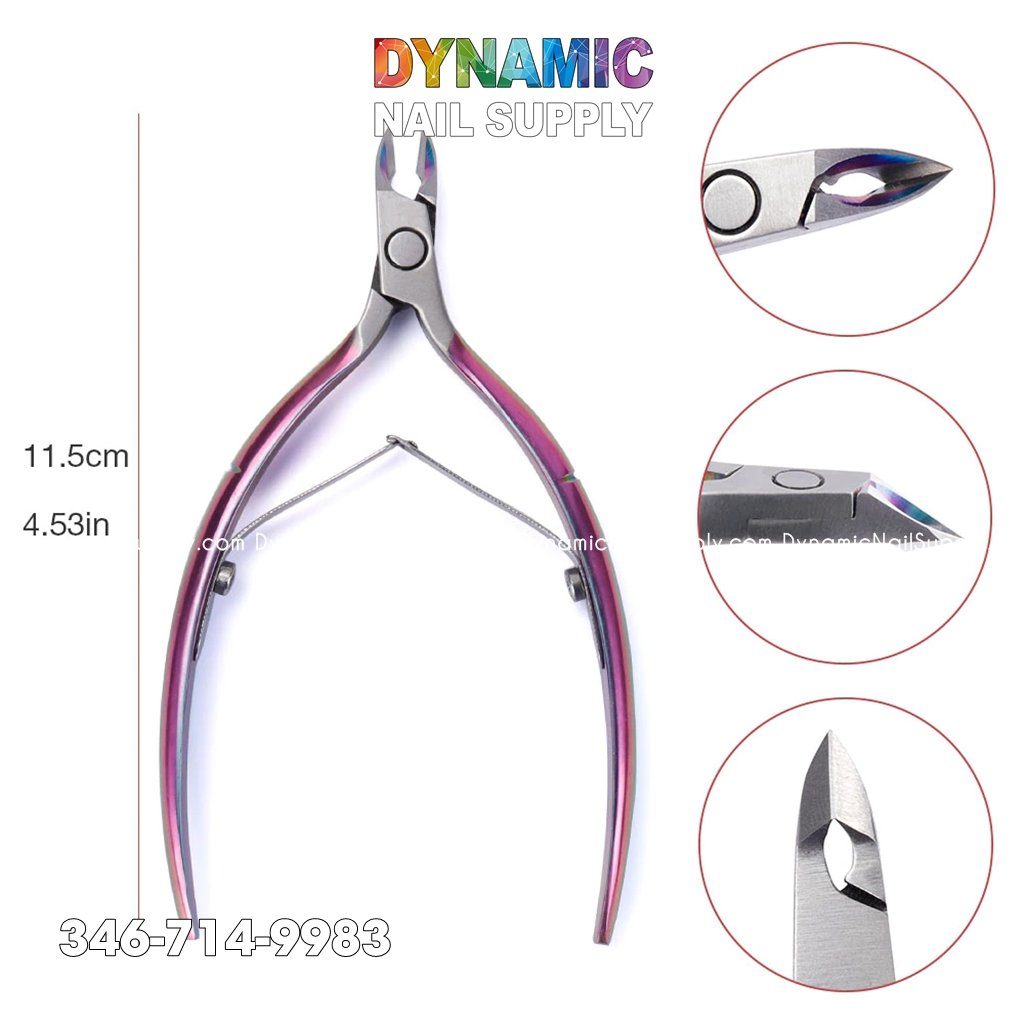 Stainless Steel Cuticle Trimmer with Cuticle Pusher - Manicure Tools
