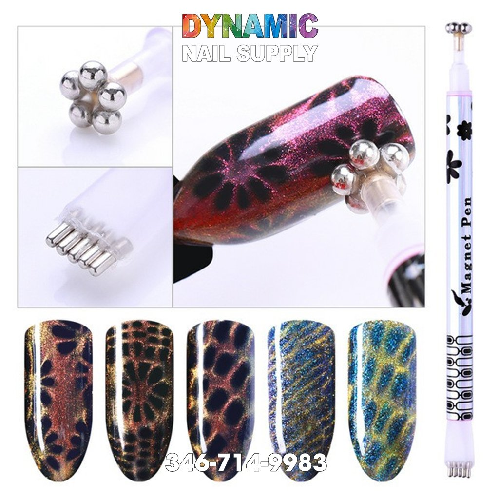 Double Headed Nail Art Magnet Stick for Nail Gel Polish Line Strip Effect - Dynamic Nail Supply