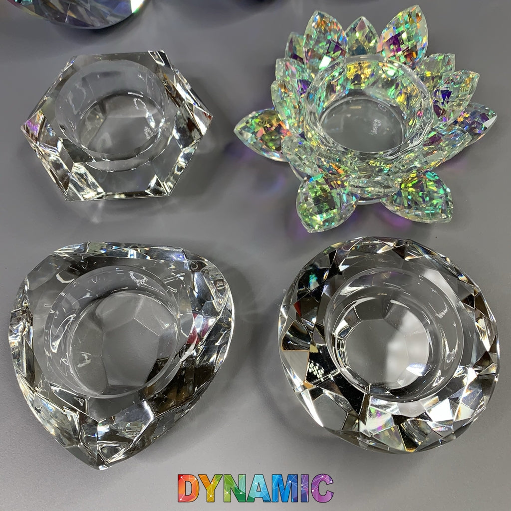CRYSTAL DAPPEN DISH - HEXAGON - ROUND - HEART - LOTUS SHAPE