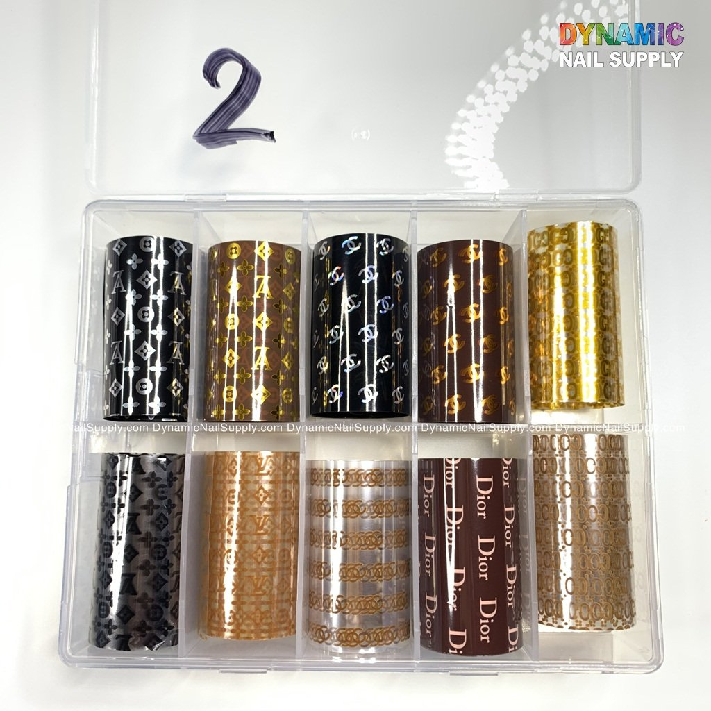 Holographic Nail Art Stickers Tips Wraps Transfer Foil Glitter Acrylic DIY Nail Decoration