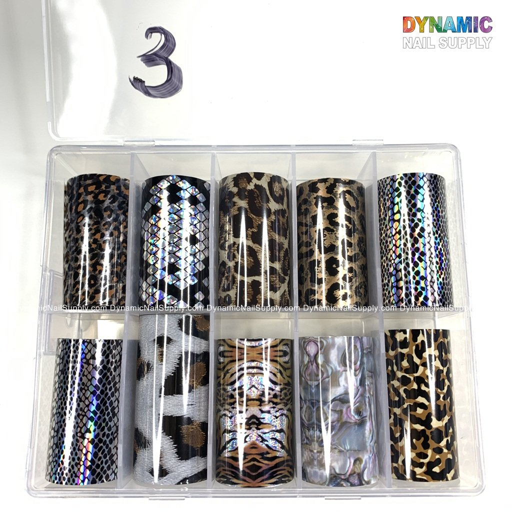 Nail Foil Transfer Wraps Stickers Adhesive Glitters Acrylic DIY Nail Decoration