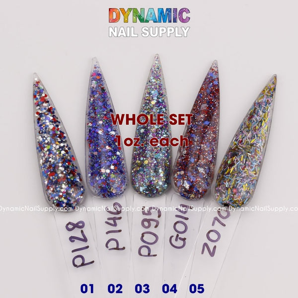 Set 96 - [Nebula in The Starry Sky] Acrylic Nails & Dipping Powder - 1oz / 2oz - Dynamic Nail Supply