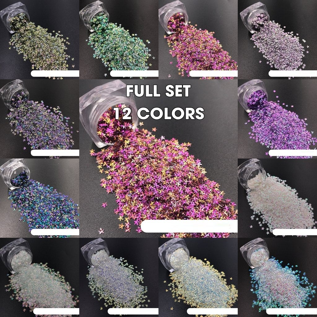 KCK 1760 Star Shape 3D Effect Colorful 3MM nails art glitter - Dynamic Nail Supply