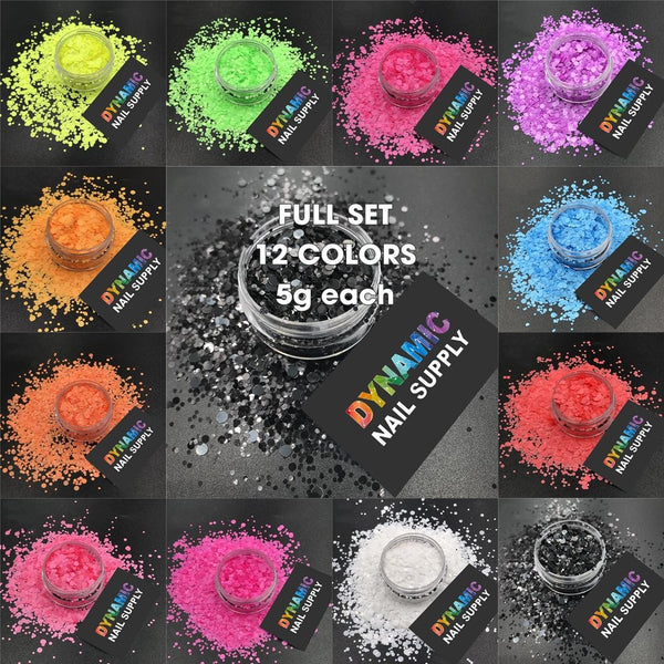KCK 2930 Round Dot Shape Neon Bright Matte Colors nails art glitter