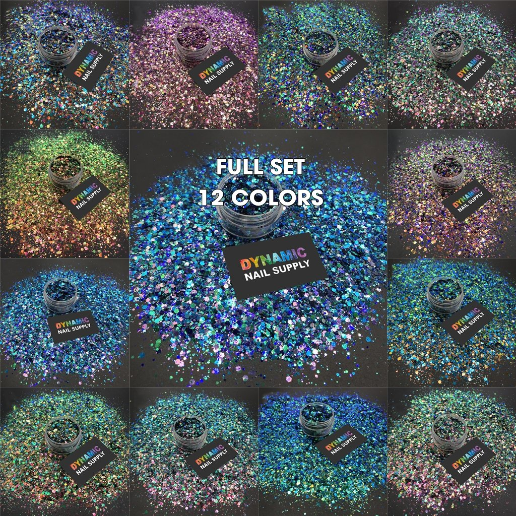 KCK 3840 Chameleon Shift Color Chunky nails art glitter - Dynamic Nail Supply