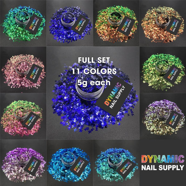 KCK 3890 Chameleon Color Butterfly 3MM nails art glitter - Dynamic Nail Supply