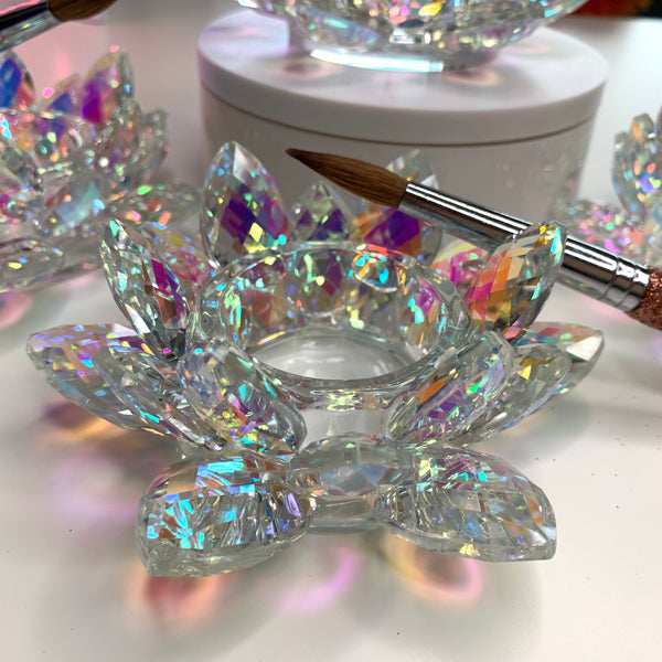 CRYSTAL LOTUS DAPPEN DISH - RAINBOW COLOR - Dynamic Nail Supply