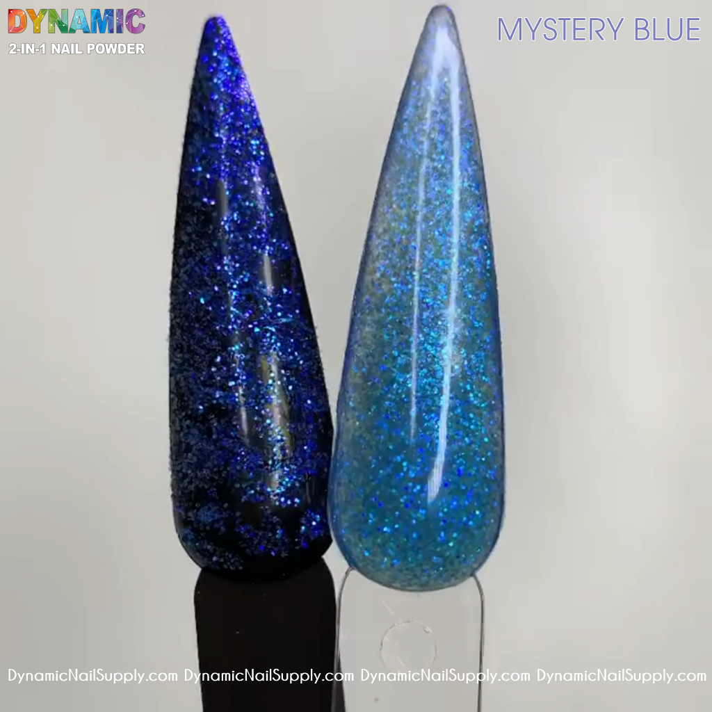 Mystery Blue Glitter - 2-in-1 Acrylic powder for sculpting and dipping nails