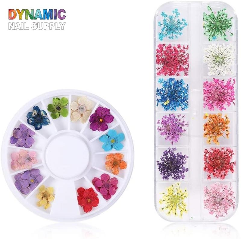 Nail Dried Flowers - 3D Dry Flowers Nail Art Stickers - Dynamic Nail Supply