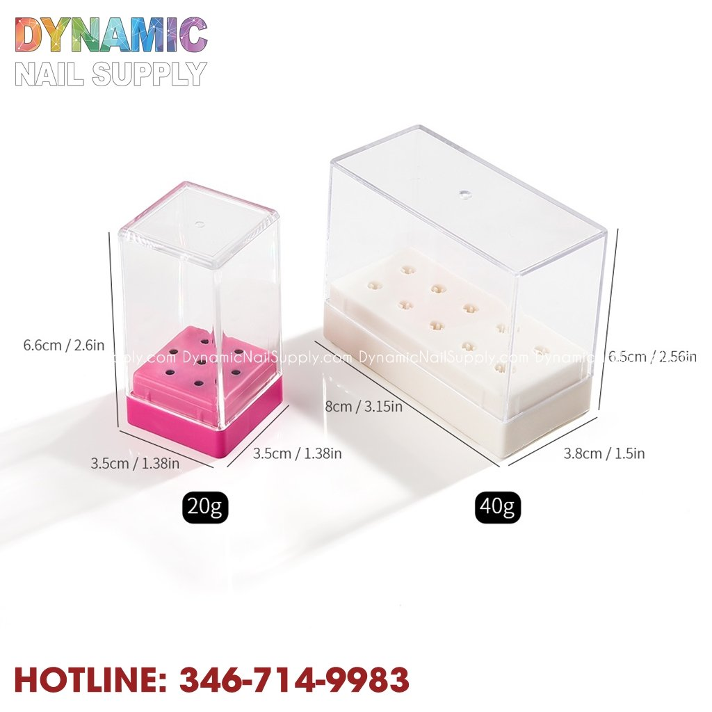Nail Drill Bit Empty Storage Box - Stand Display Container / Holder Box For Nail Drill Bits - Dynamic Nail Supply