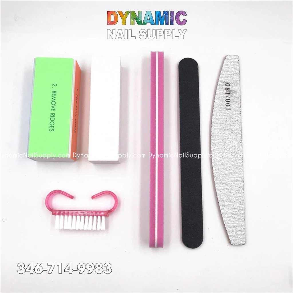 Nail Files Buffer Professional Makeup Manicure Pedicure Set Nail Brushes Tool Extension Set - Dynamic Nail Supply