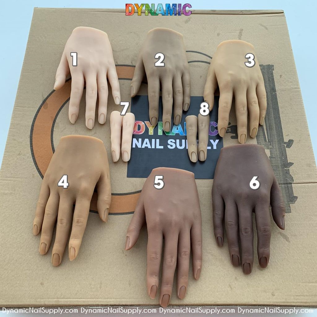 Poseable Silicone Practice Hands and fingers - 6 different skin tones