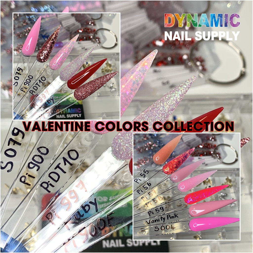 Valentines Colors Collection (part 1 of 2) - Acrylic nails Powder for sculpting and dipping (Valentine Collection)