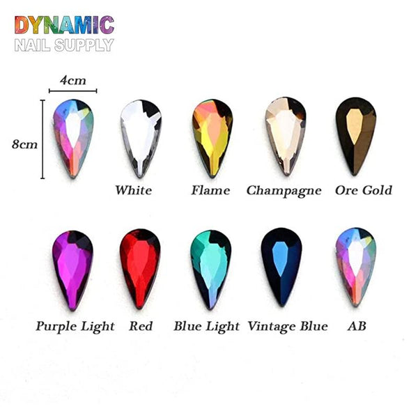 Water Drop Nail Rhinestones - Dynamic Nail Supply