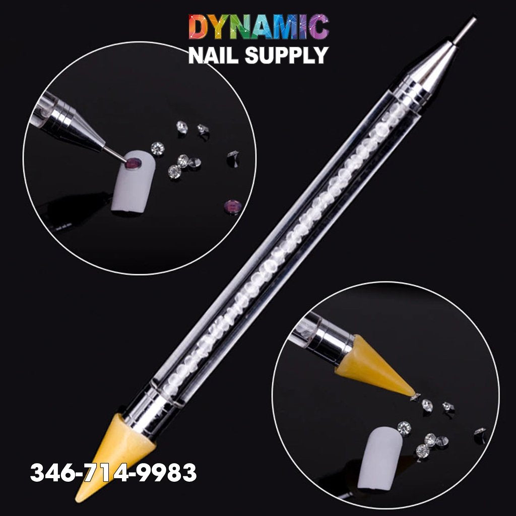 Dual-ended Nail Art Wax Dotting Pen Picking Up Rhinestone - Dynamic Nail Supply