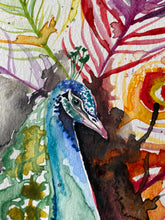 Load image into Gallery viewer, Peacock - watercolor
