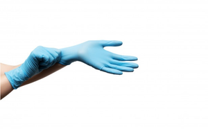 "BLUE ""LARGE"" POWDERED GLOVES"