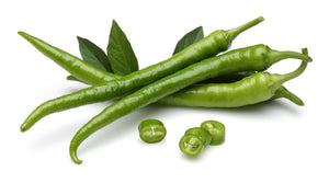 Green Chilli Peppers ( 4's )